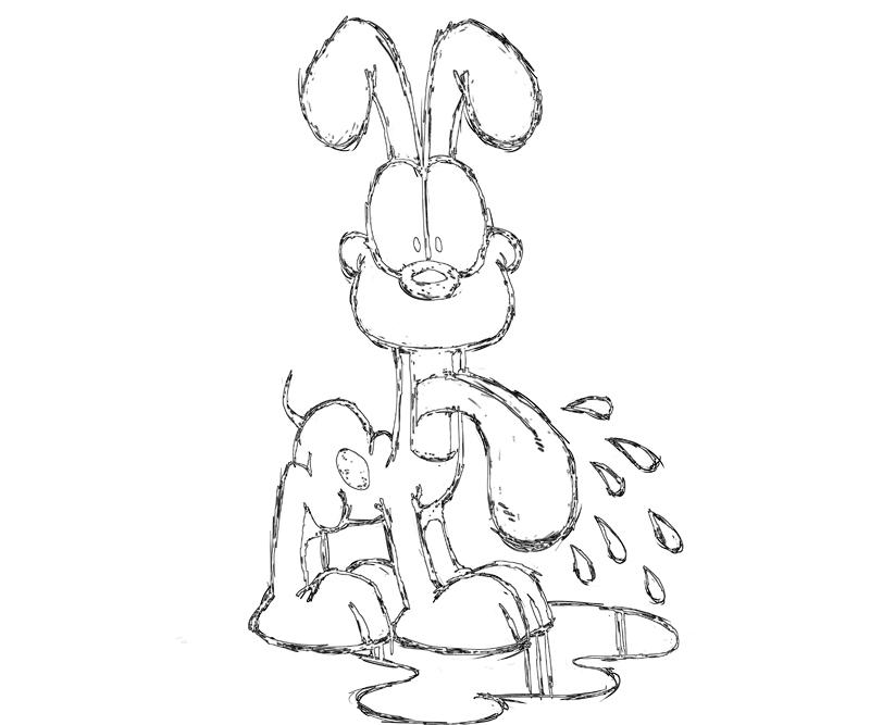 odie-funny-coloring-pages