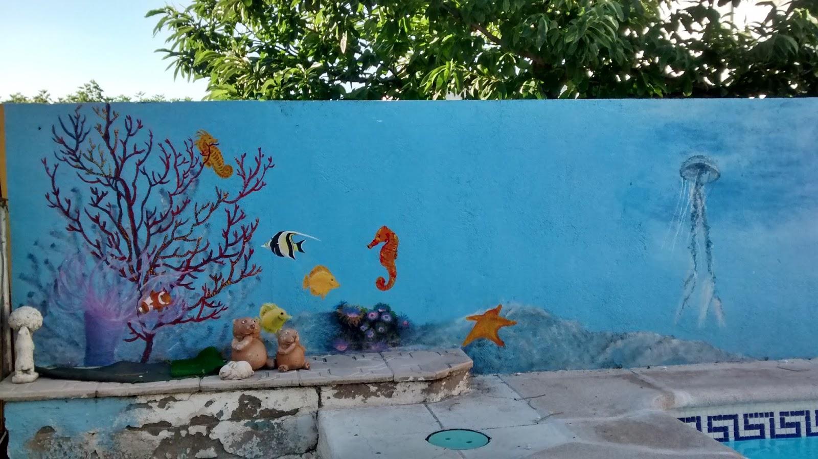 Murales para piscinas materiales de construcci n para la for Pintado de piscinas