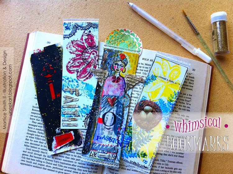 Whimsical Bookmarks by artist Martice Smith II