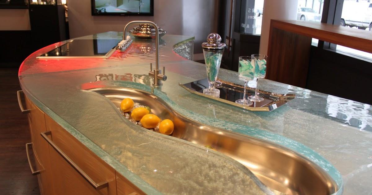 Decoraciones de cocinas encimeras de cristal con clase - Encimeras de cocina de cristal ...