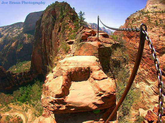 The quibley corner angel s landing zion national park utah