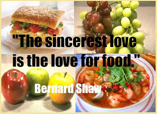 funny love and food quote