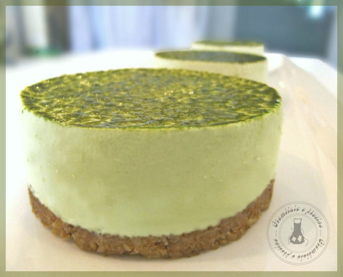 Amato Grembiule e presine: Cheesecake al tè verde matcha monoporzione QO02
