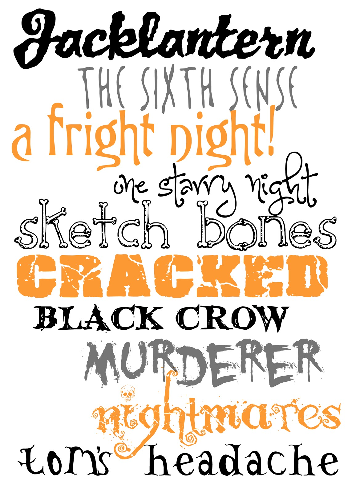 Free Halloween Fonts — Crafthubs