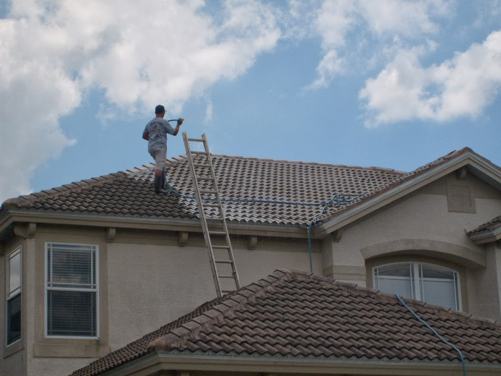 It Always Costs More To Clean Roof Tiles, And Here Is Why. It Can Easily  Take 3 To 4 Times The Amount Of The Roof Cleaning Chemicals To Clean The  Same Size ...