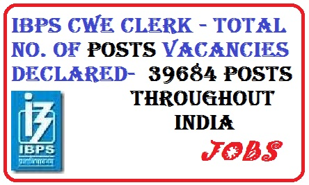 ibps clerk posting allotment- total no. of posts in ibps, ibps clerk jobs, ibps.in