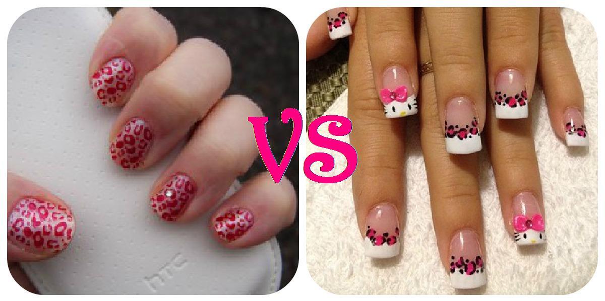qué tipo de uñas hay más diseños: uñas de gel o uñas naturales