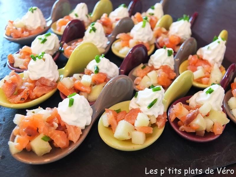 Les p'tits plats de Véro: Cuillères apéritives saumon, pommes ...