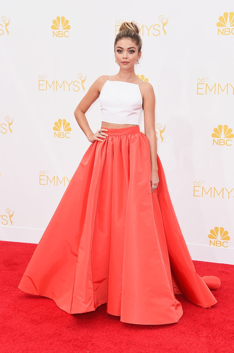 Sarah Hyland in Christian Siriano at the Emmy Awards