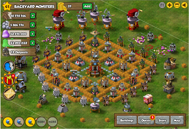 Backyard Monsters Base facebook backyard monsters best monster bunker base designs