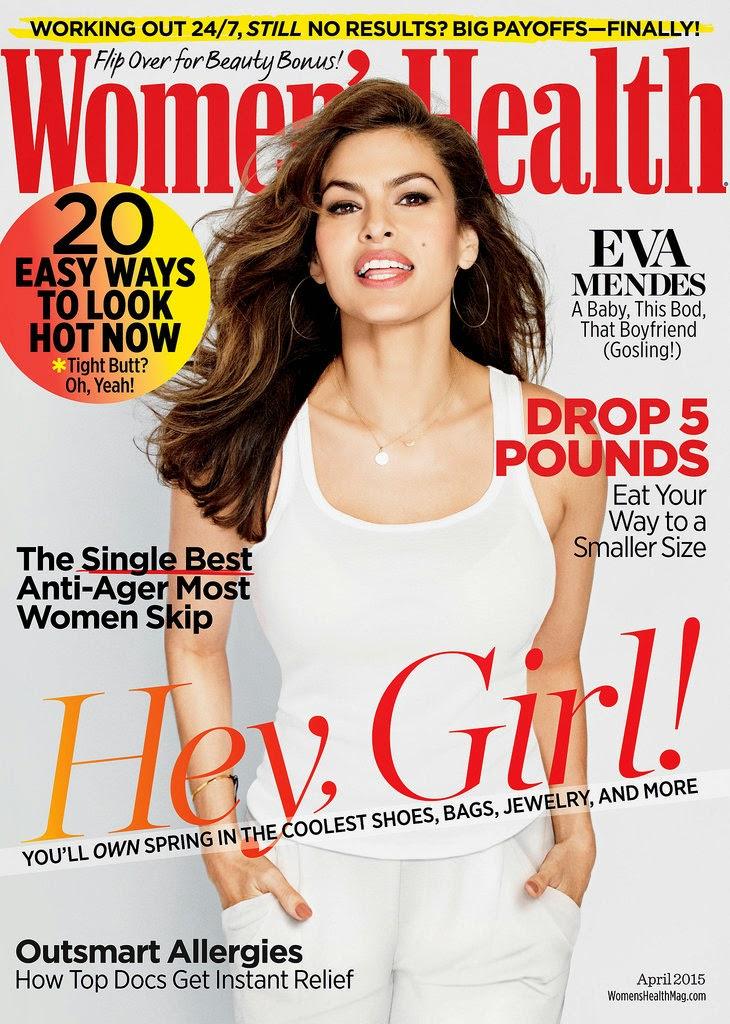 Actress, Model, Singer @ Eva Mendes - Women's Health April 2015