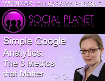 Social Planet and Pam Ann Marketing Webinar 6/25/12 on Google Analytics