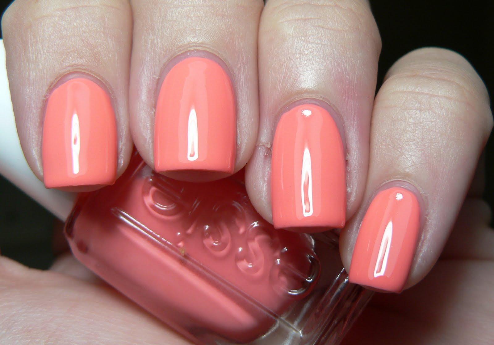 Маникюр с персиковым цветом гель лак