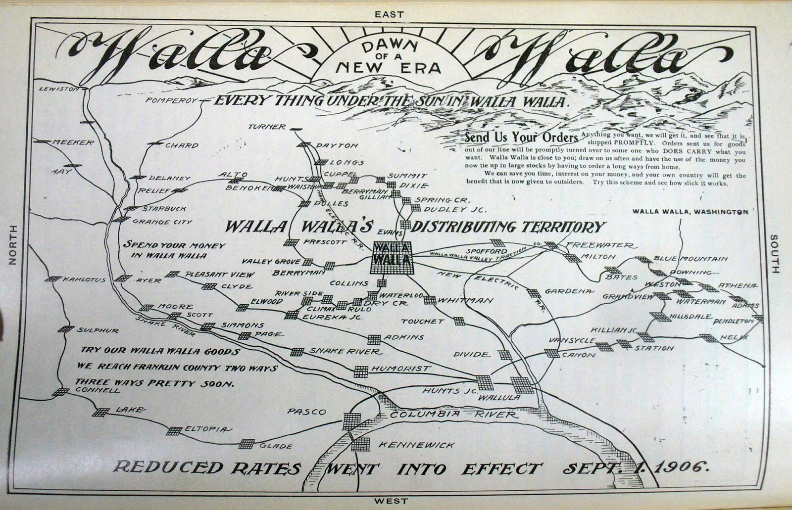 Walla Walla Washington Map