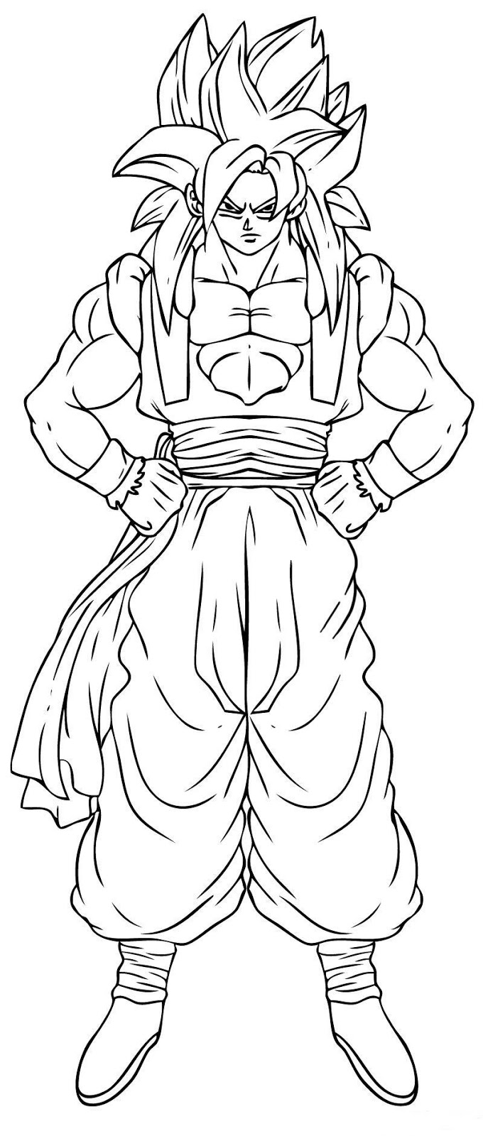 Free Goku Fase 2 Coloring Pages