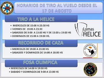 Días y horarios del sector escopeta en el Tiro Federal de Lomas de Zamora