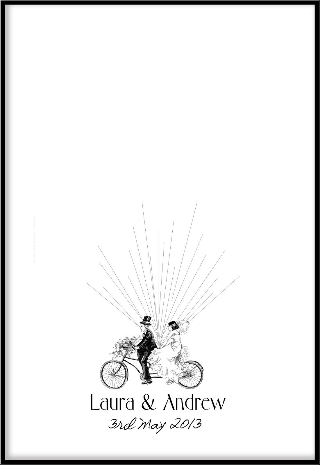 wedding poster guest book