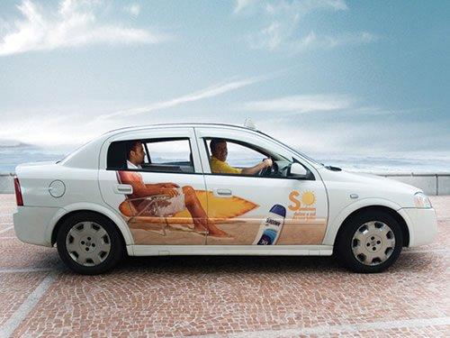 Stickered Taxi - Iklan stiker kreatif