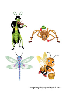 Printable infant Insects