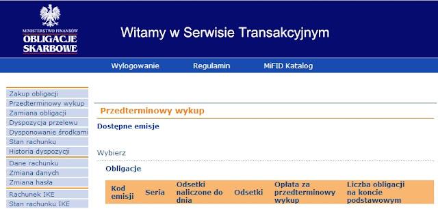 panel przedterminowy wykup obligacji skarbowych