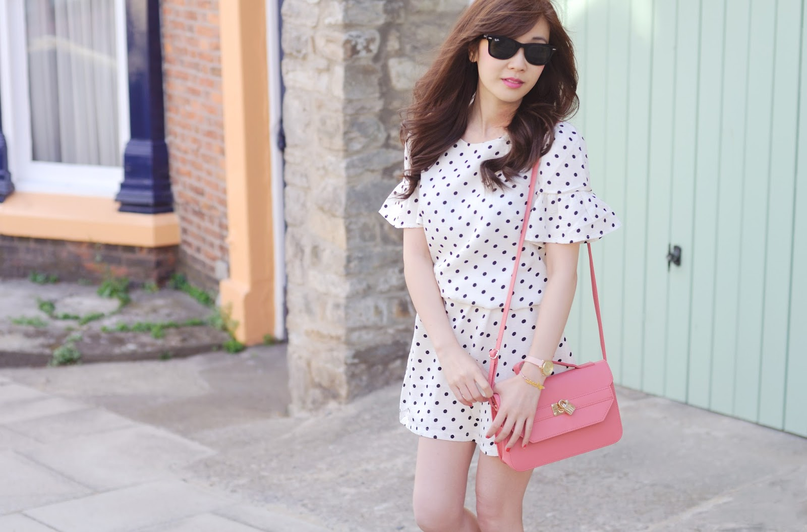 uk fashion blogger, how to style a polka dot dress