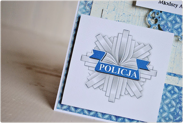 kartka scrapbooking dla policjanta