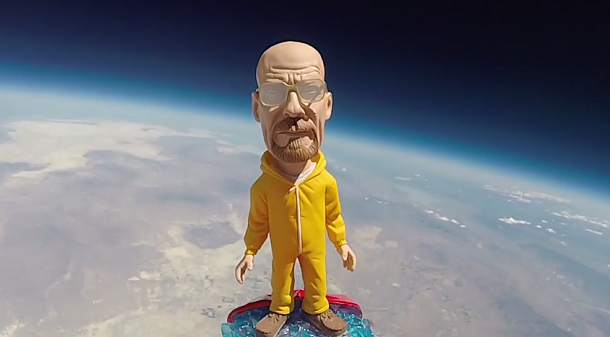 Veja Walter White a ser lançado ao espaço neste incrível vídeo