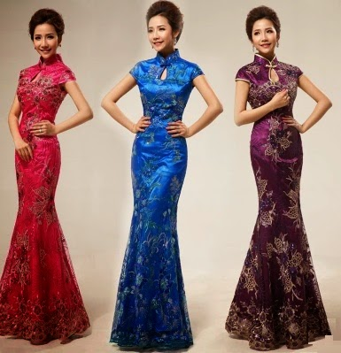 Mermaid Long Cheongsam