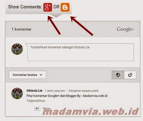 Menambahkan Show/ Hide 2 komentar Google+ & Blogger
