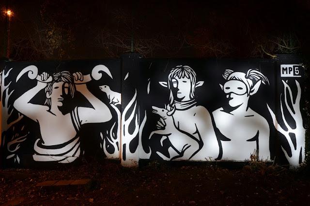 """Panismo"" New Street Art Piece By Italian Artist MP5 In Torino. 4"