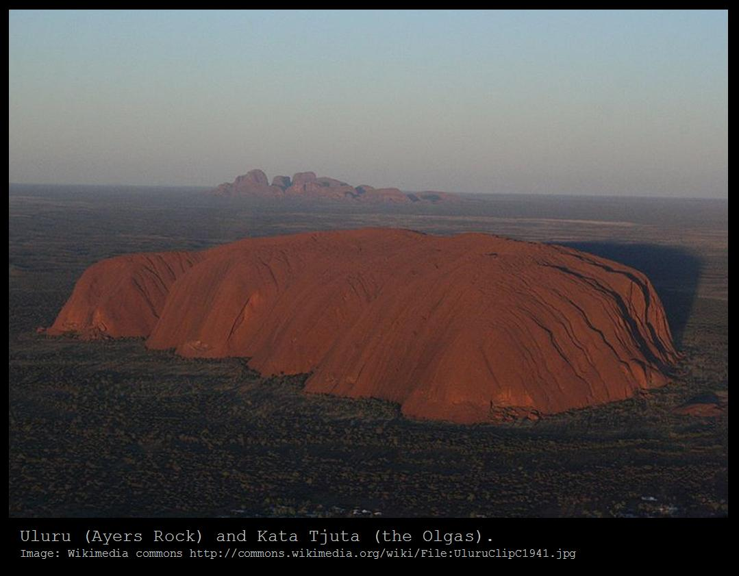 Ayers Rock Geology Mound Known as Ayers Rock