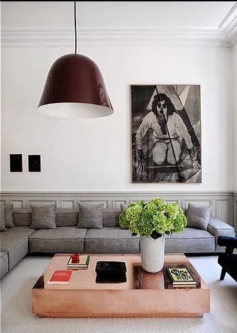 sofa gris grande moderno