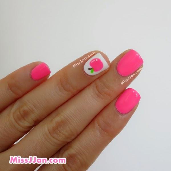 Missjjans Beauty Blog Tutorial Neon Apple Nail Art Back To