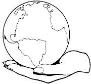 Planeta tierra para colorear. Dibujo de Planeta tierra para colorear color
