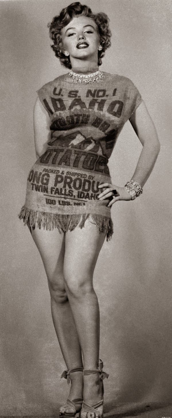 The Story of Marilyn Monroe and the Potato Sack Dress c 1951