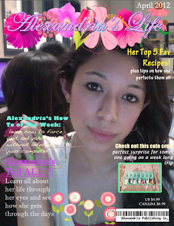 Magazine designed in Photoshop by Room 626 Photoshop student