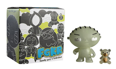 San Diego Comic-Con 2011 Exclusive Glow in the Dark Stewie Family Guy Mini Figure by Kidrobot