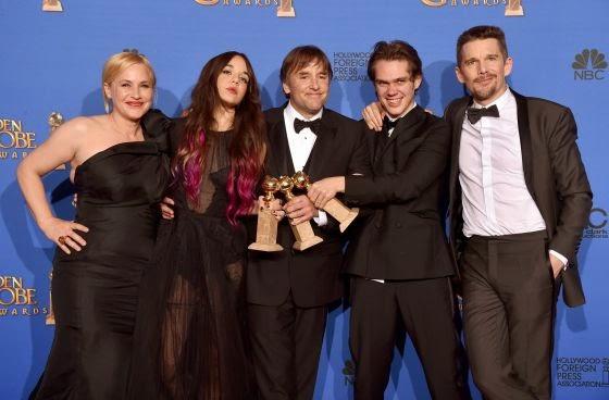 Globos de Oro 2015: Lista de ganadores en la categoría de cine. 'Boyhood' se corona como la Mejor Película de Drama.