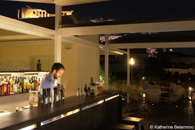 Point α Bar at Herodion Hotel Bartender Lefteris Sofatzis Athens Rooftop Bars