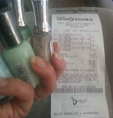 My purchase #shop #iheartmynailart #cbias #walgreens