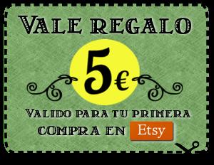 Vale de 5€ para tu primera compra en Etsy