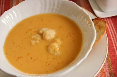 Cauliflower and Sweet Potato Soup