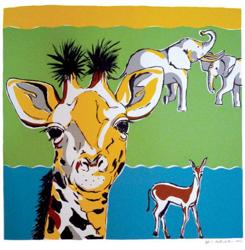 giraffe_silkscreen by Yukié Matsushita