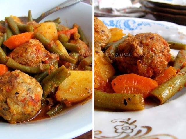 """""""Sebzeli Köfte"""" - овощной соус с тефтелями по-турецки"""
