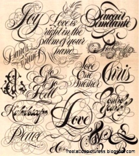 Tattoo Design Gallery 360: Tatoo Lettering