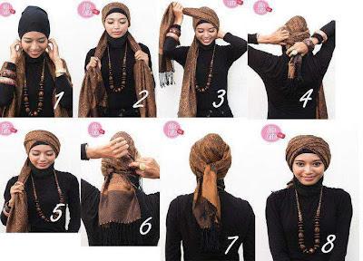 Cara Memakai Jilbab ala arab