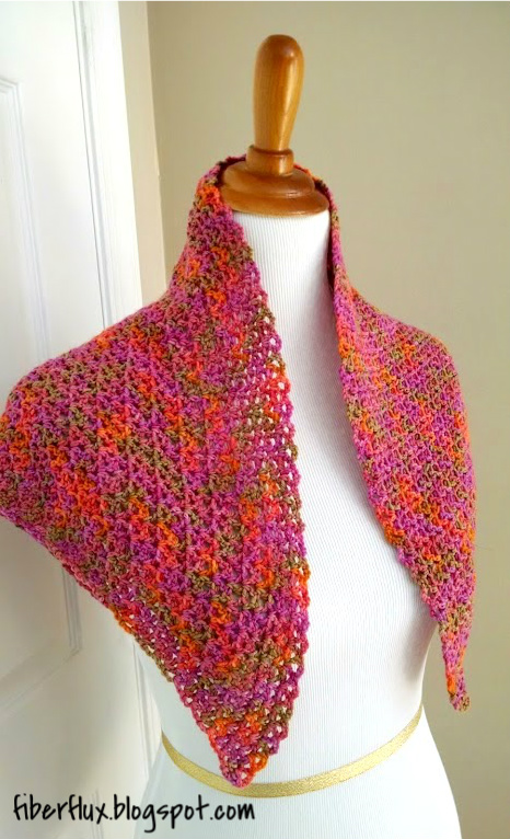 Crochet Zinnia Flower Pattern : Fiber Flux: Free Crochet Pattern...Zinnia Flower Shawl!