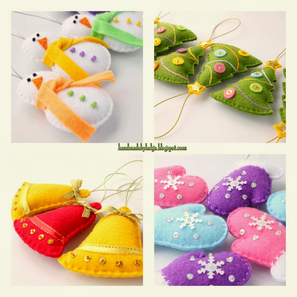 Christmas felt ornaments - Christmas Felt Ornaments 18
