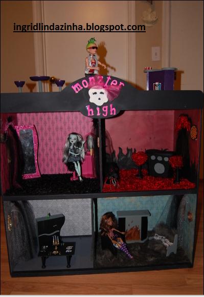 Monster high casa dos personagens de mh - Casa de monster high ...
