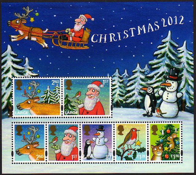 2012 Christmas miniature sheet.